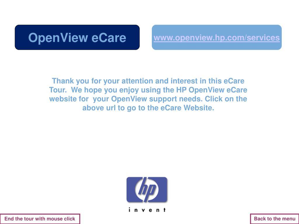 OpenView eCare