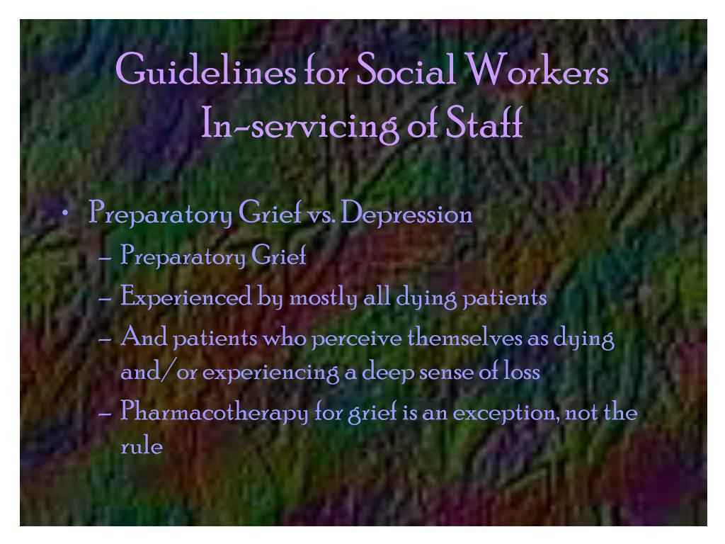 Guidelines for Social Workers