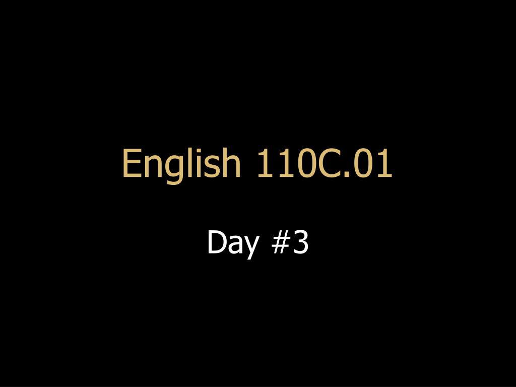 English 110C.01