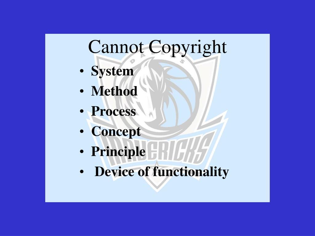 Cannot Copyright