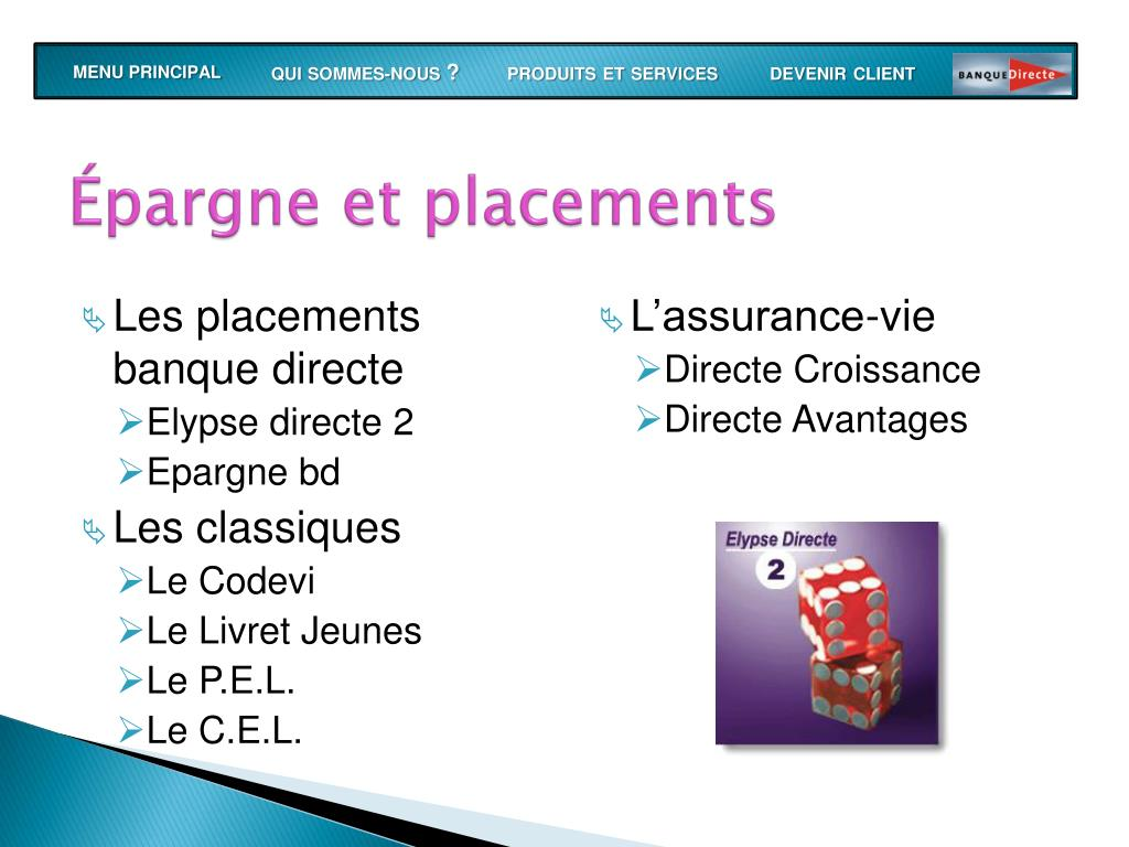 Épargne et placements