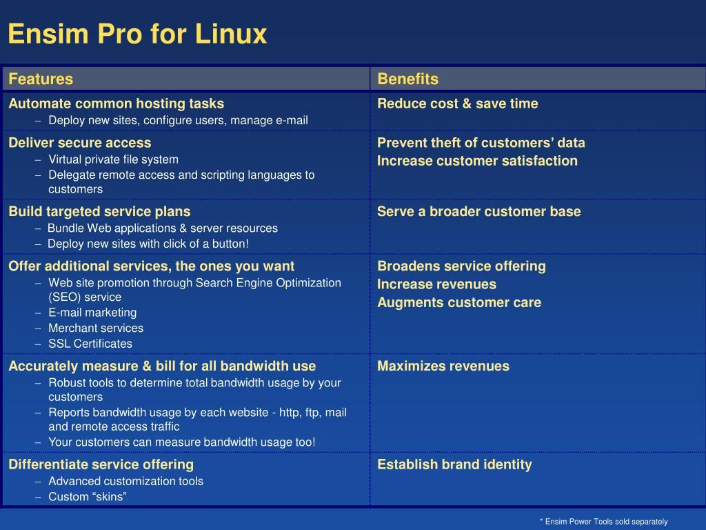 Ensim Pro for Linux