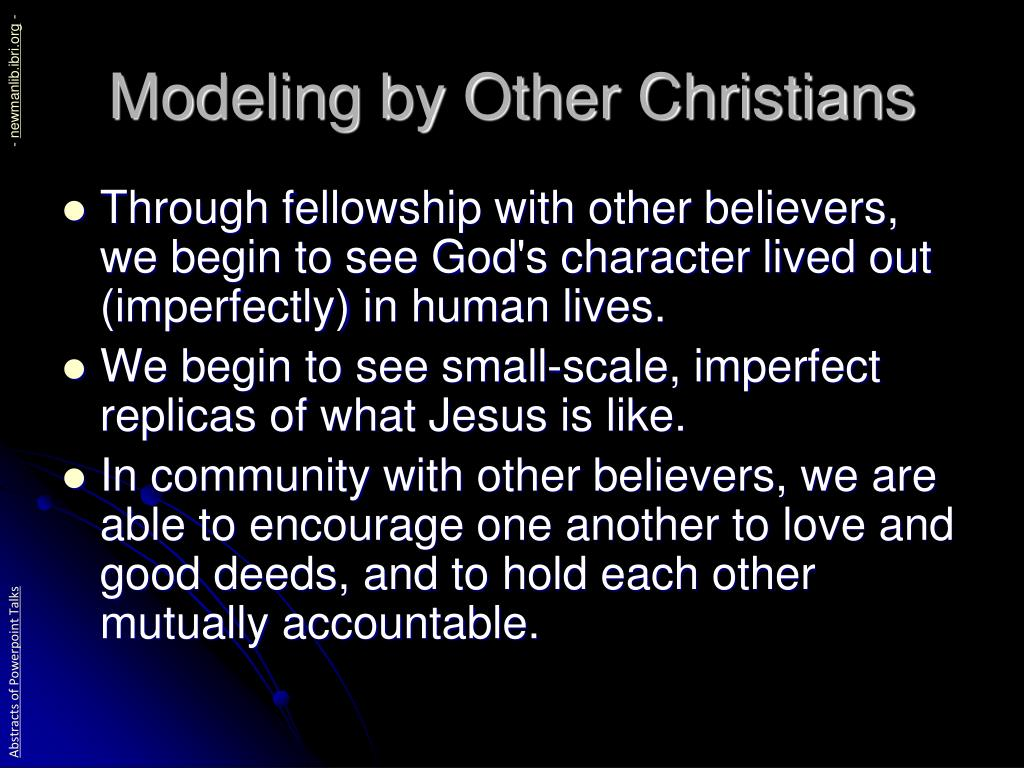 Modeling by Other Christians