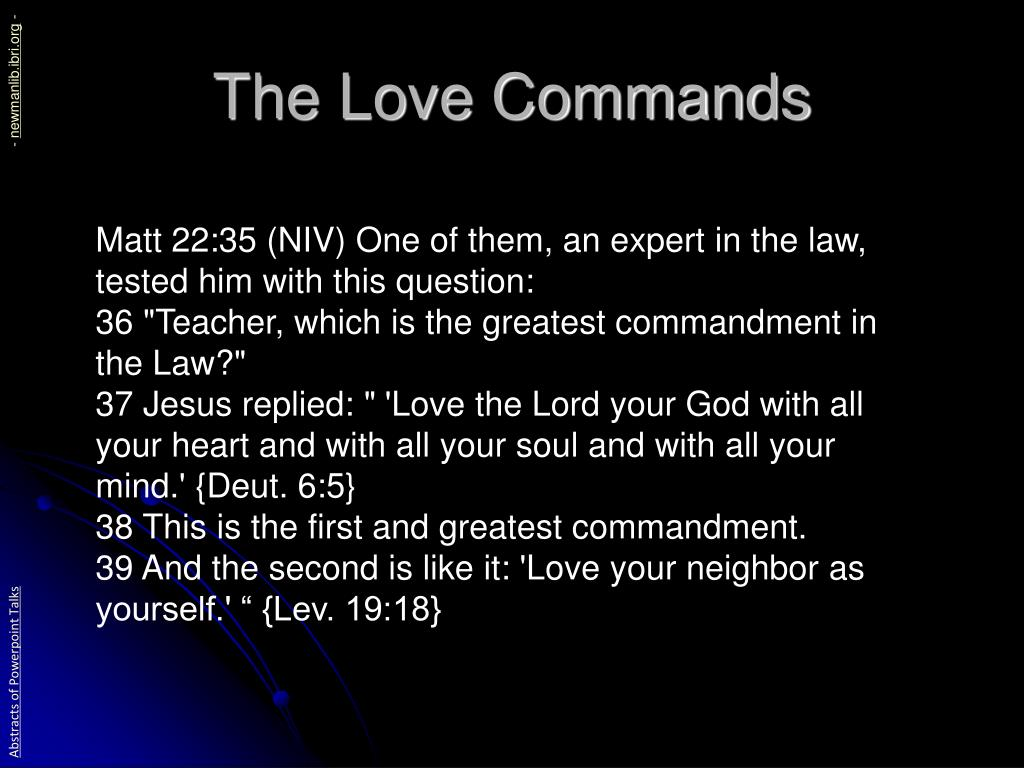 The Love Commands