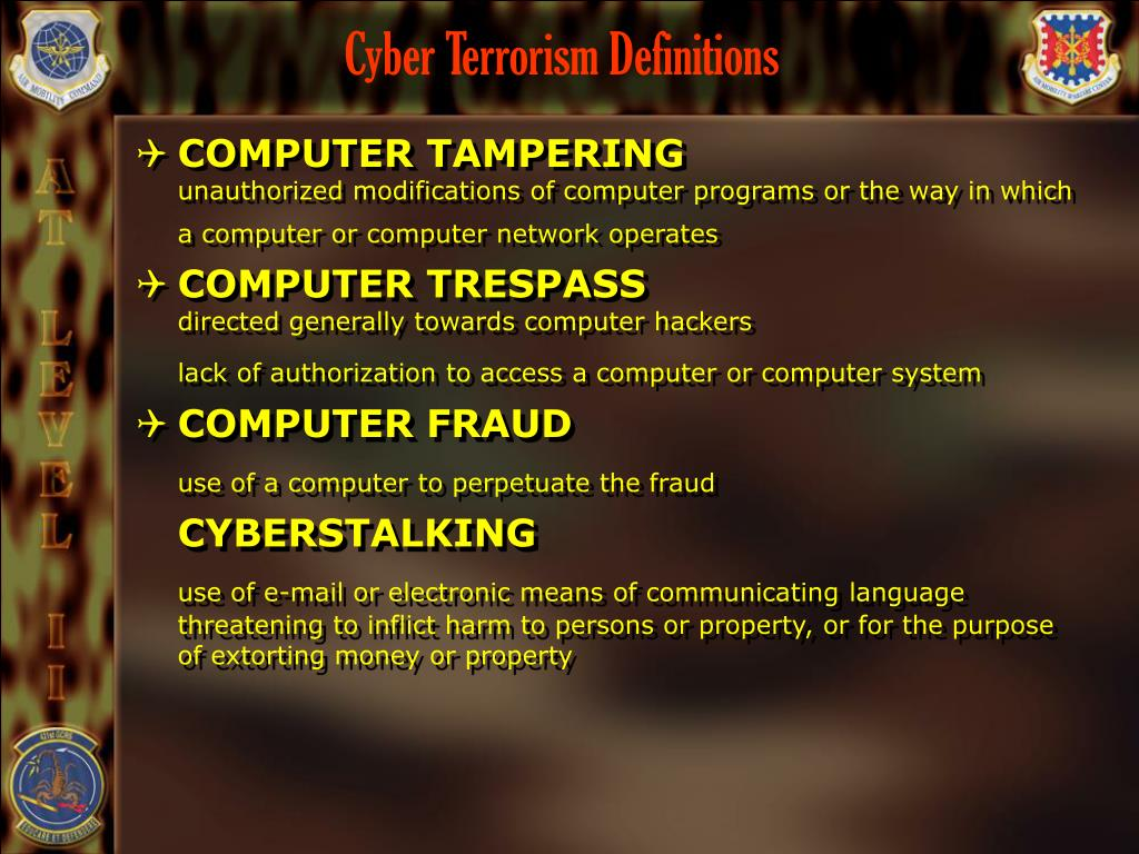 Cyber Terrorism Definitions