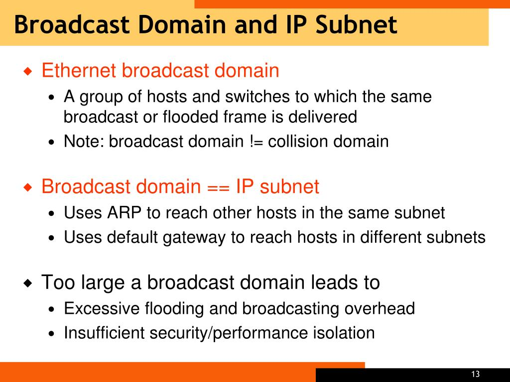Broadcast Domain and IP Subnet