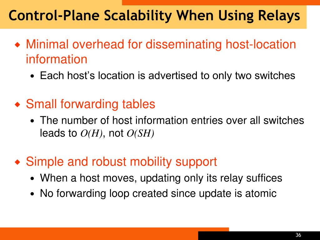 Control-Plane Scalability When Using Relays