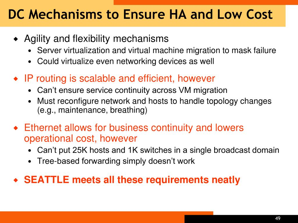 DC Mechanisms to Ensure HA and Low Cost