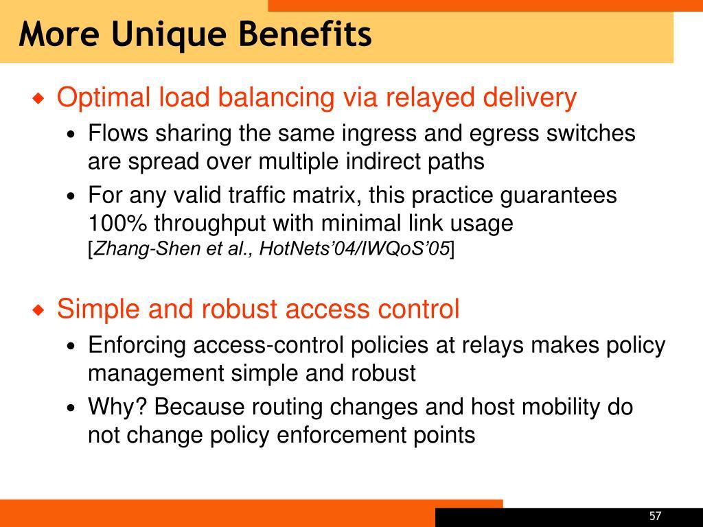 More Unique Benefits