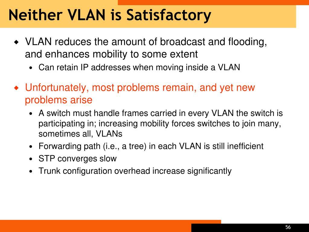 Neither VLAN is Satisfactory