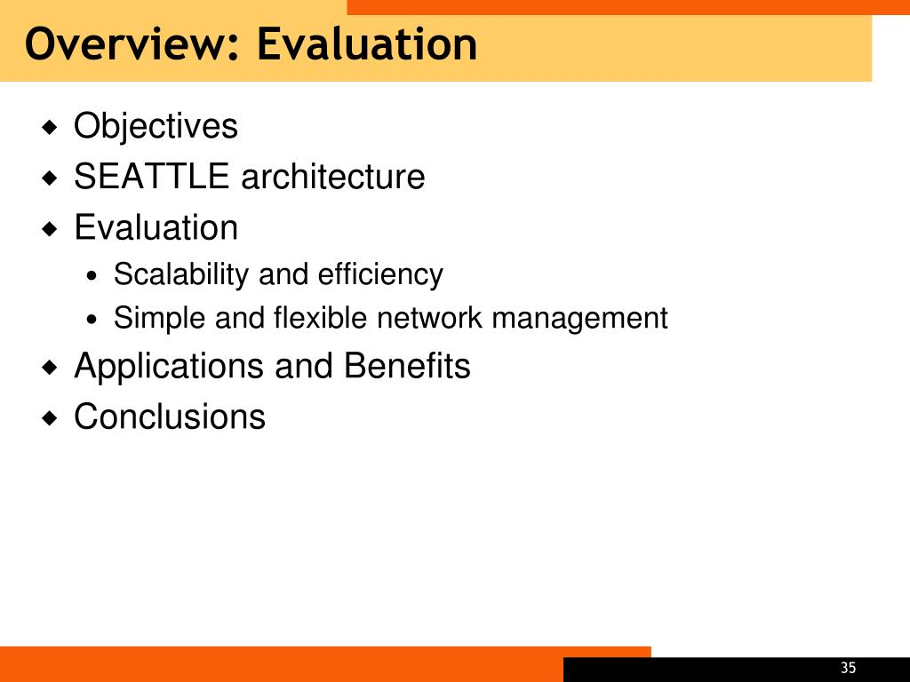 Overview: Evaluation