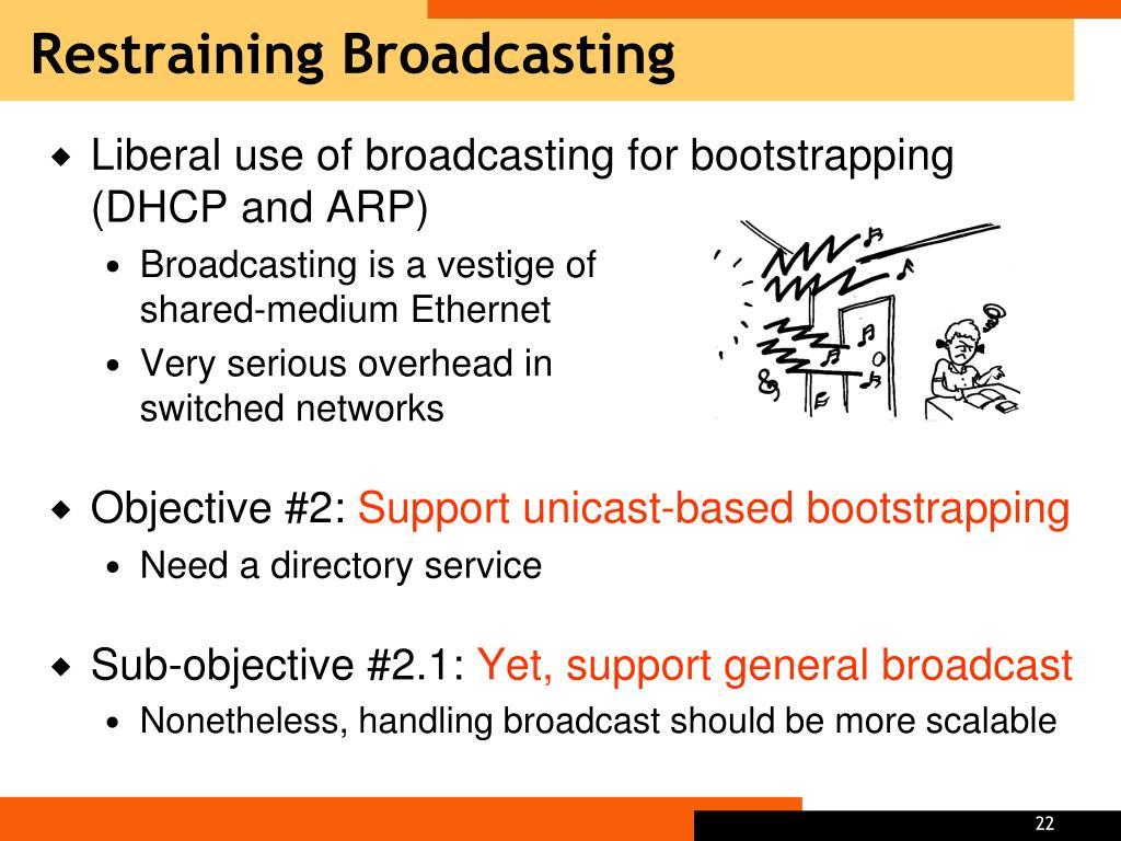 Restraining Broadcasting