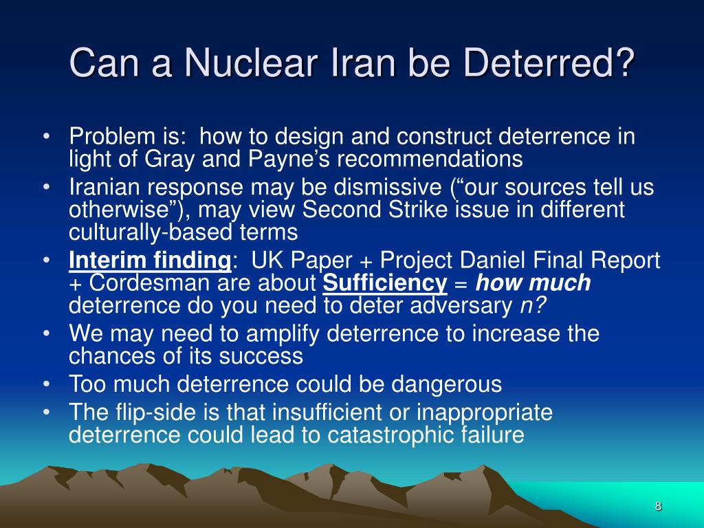 Can a Nuclear Iran be Deterred?