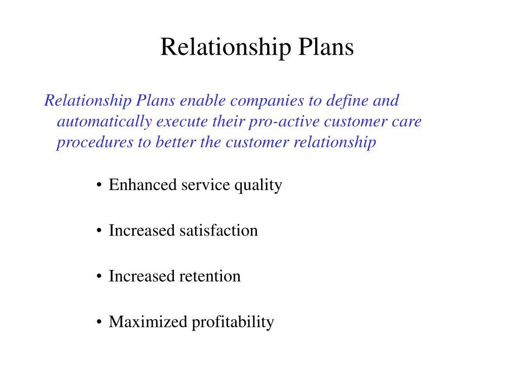 Relationship Plans