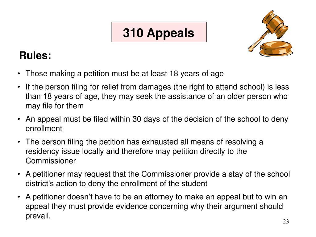 310 Appeals