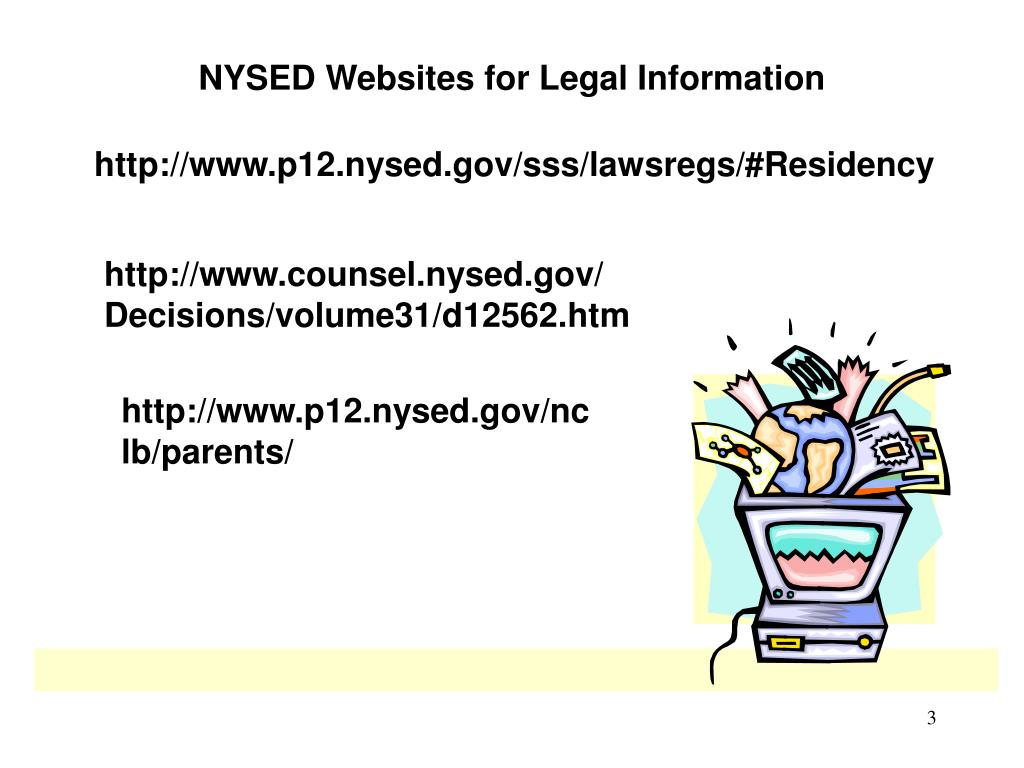NYSED Websites for Legal Information