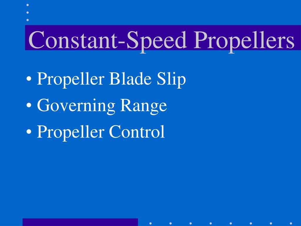 Constant-Speed Propellers