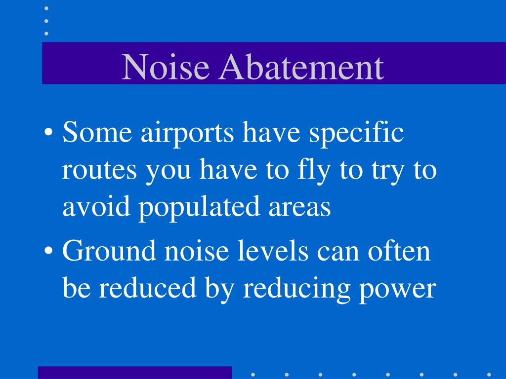 Noise Abatement