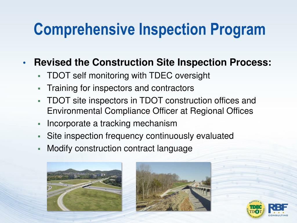 Comprehensive Inspection Program