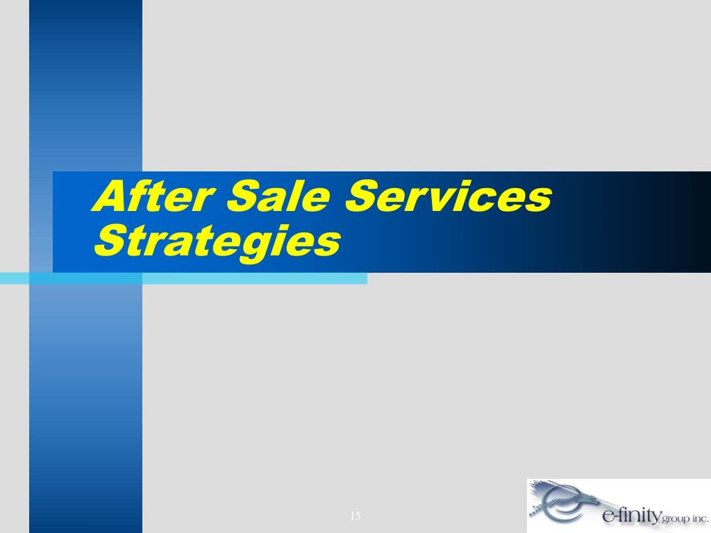After Sale Services Strategies