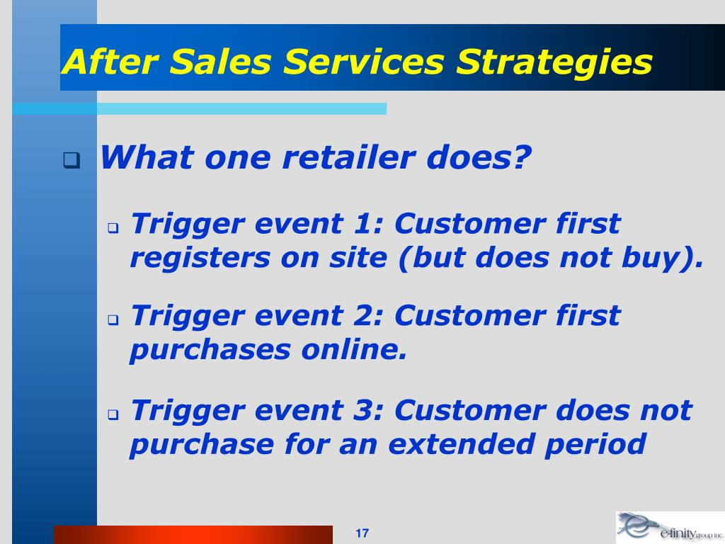 After Sales Services Strategies
