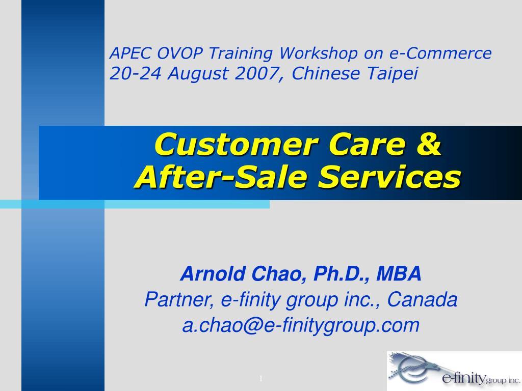 APEC OVOP Training Workshop on e-Commerce