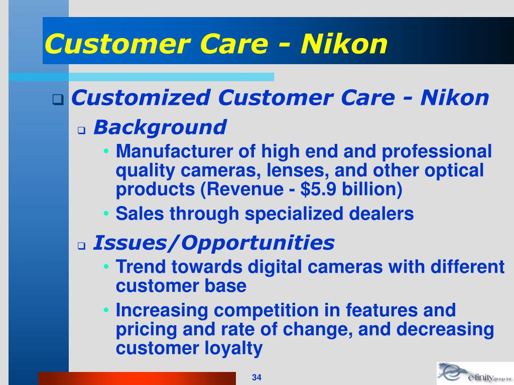 Customer Care - Nikon