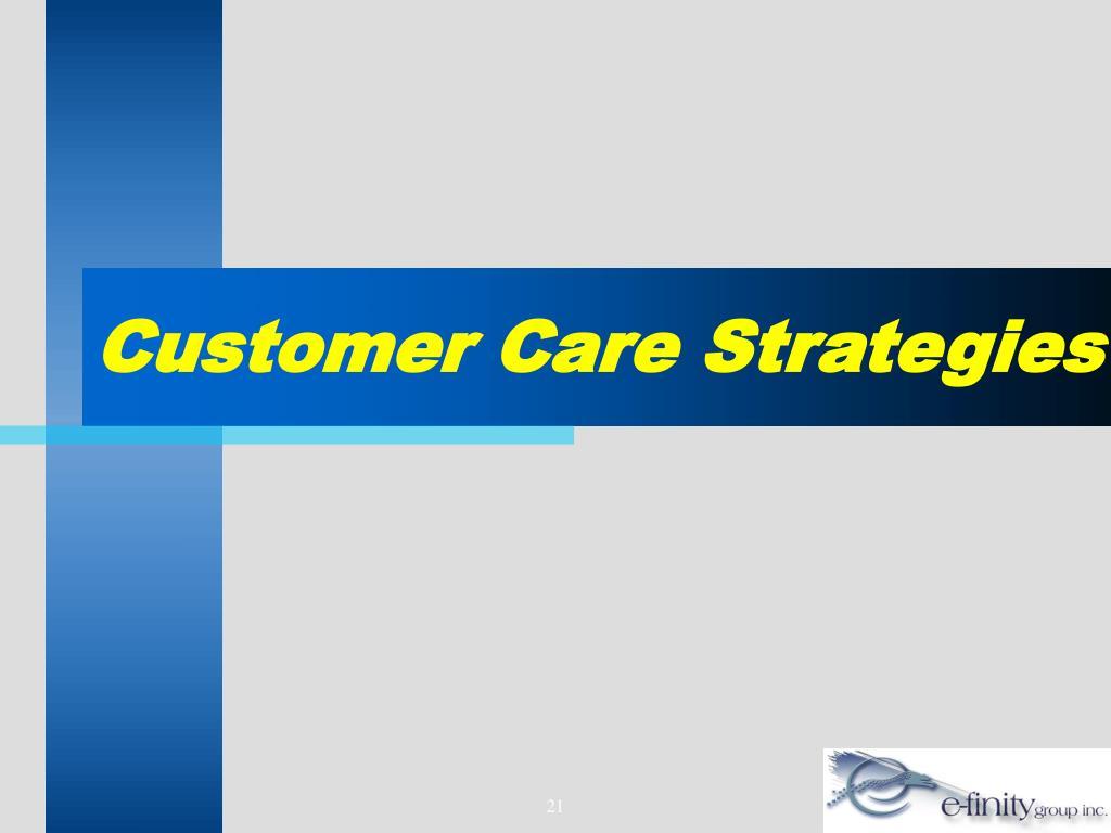 Customer Care Strategies