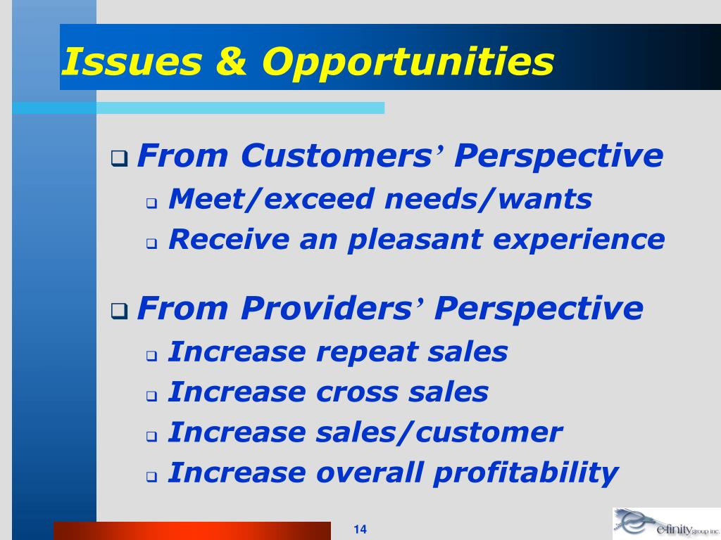 Issues & Opportunities