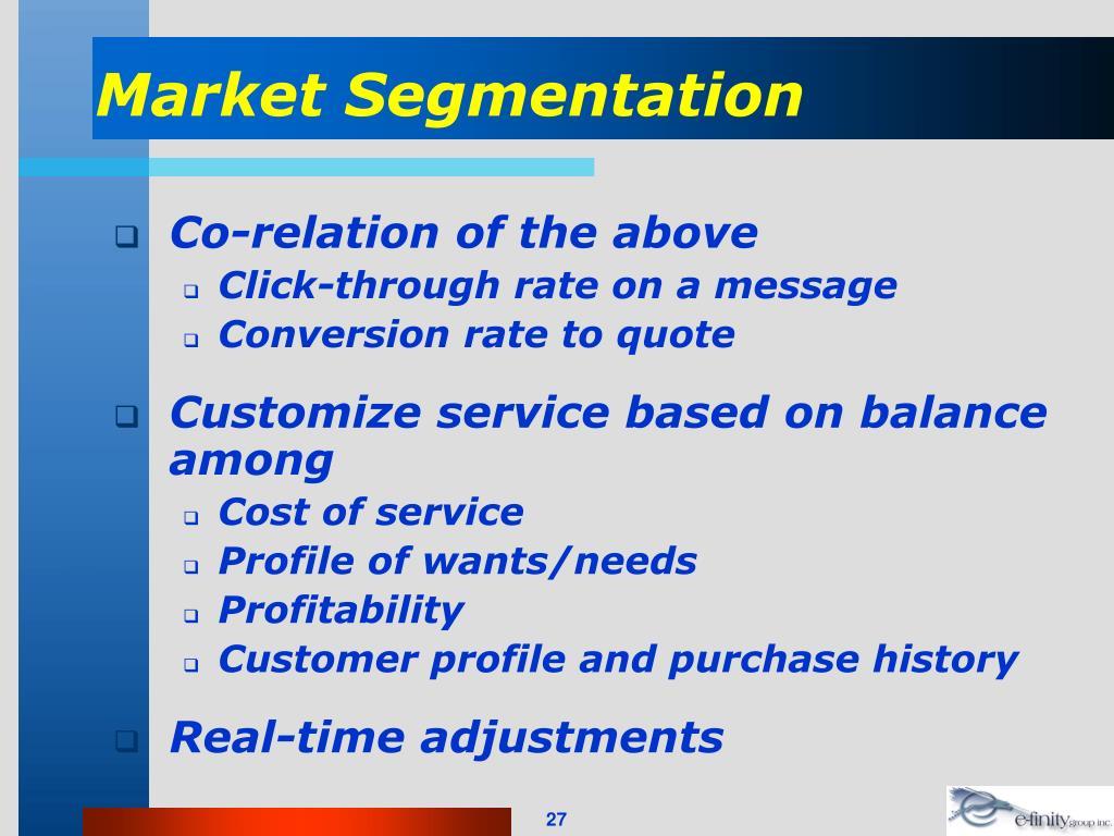 Market Segmentation