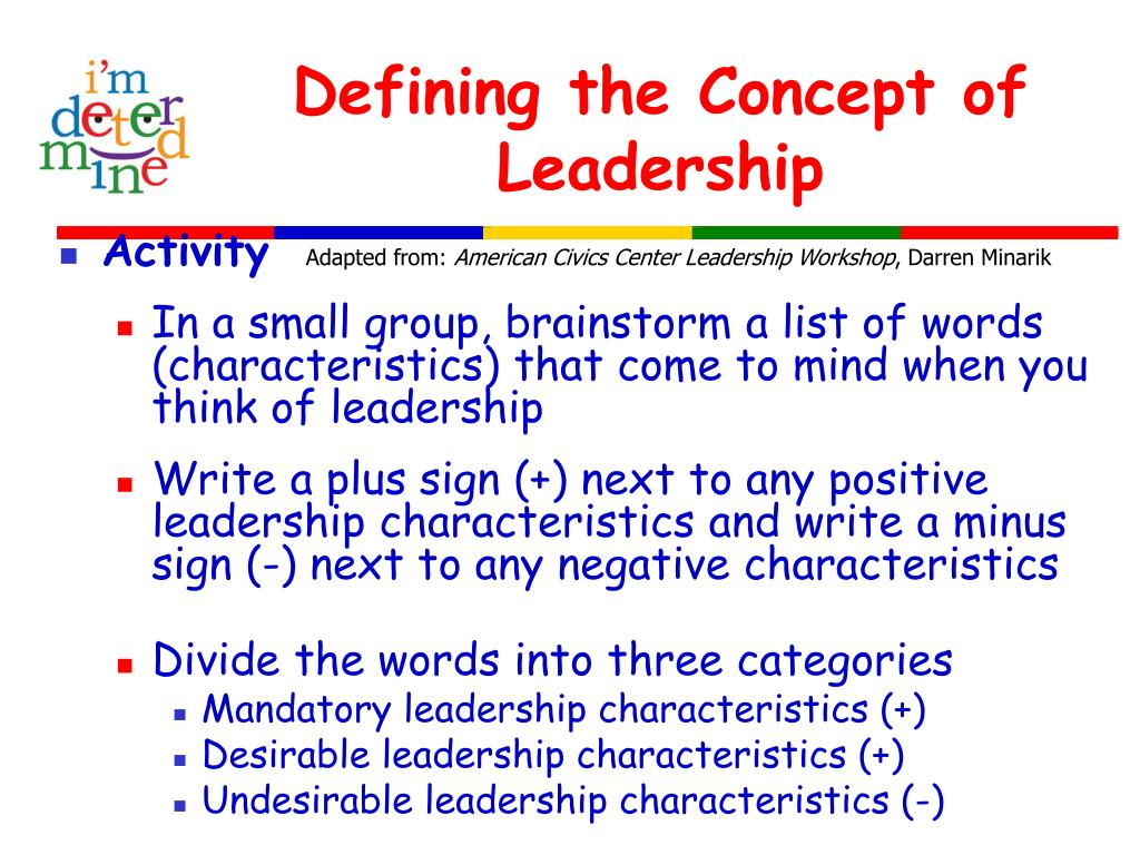 Defining the Concept of Leadership