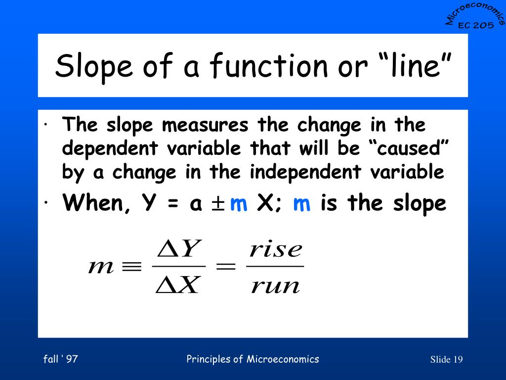 "Slope of a function or ""line"""