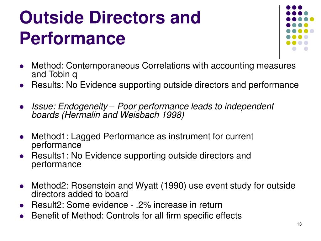 Outside Directors and Performance