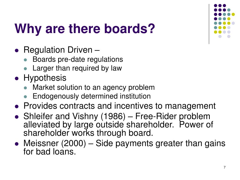 Why are there boards?