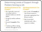 determining levels of support through problem solving p 14