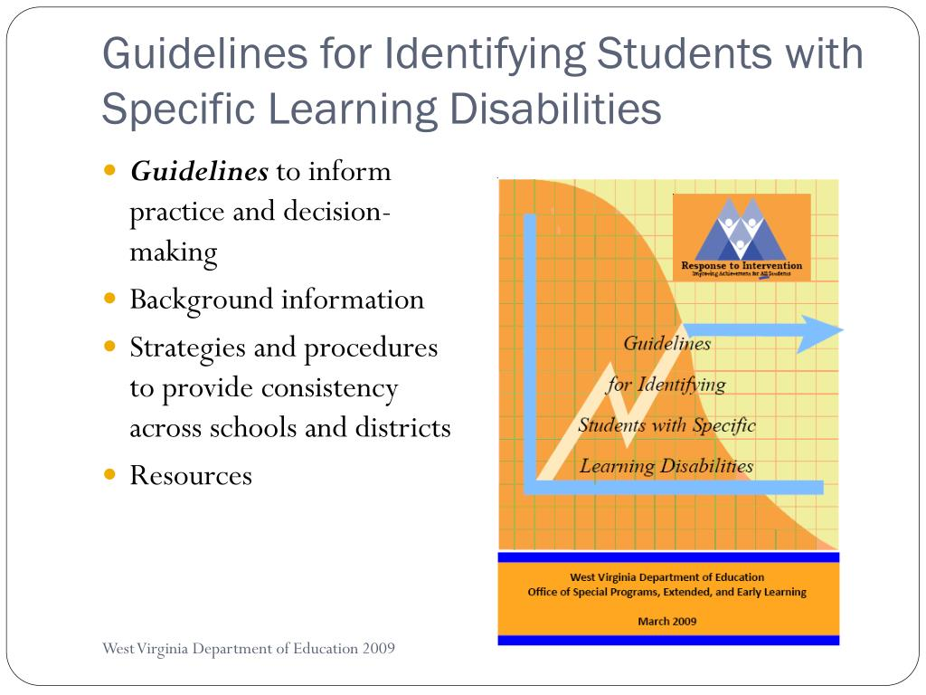 Guidelines for Identifying Students with Specific Learning Disabilities