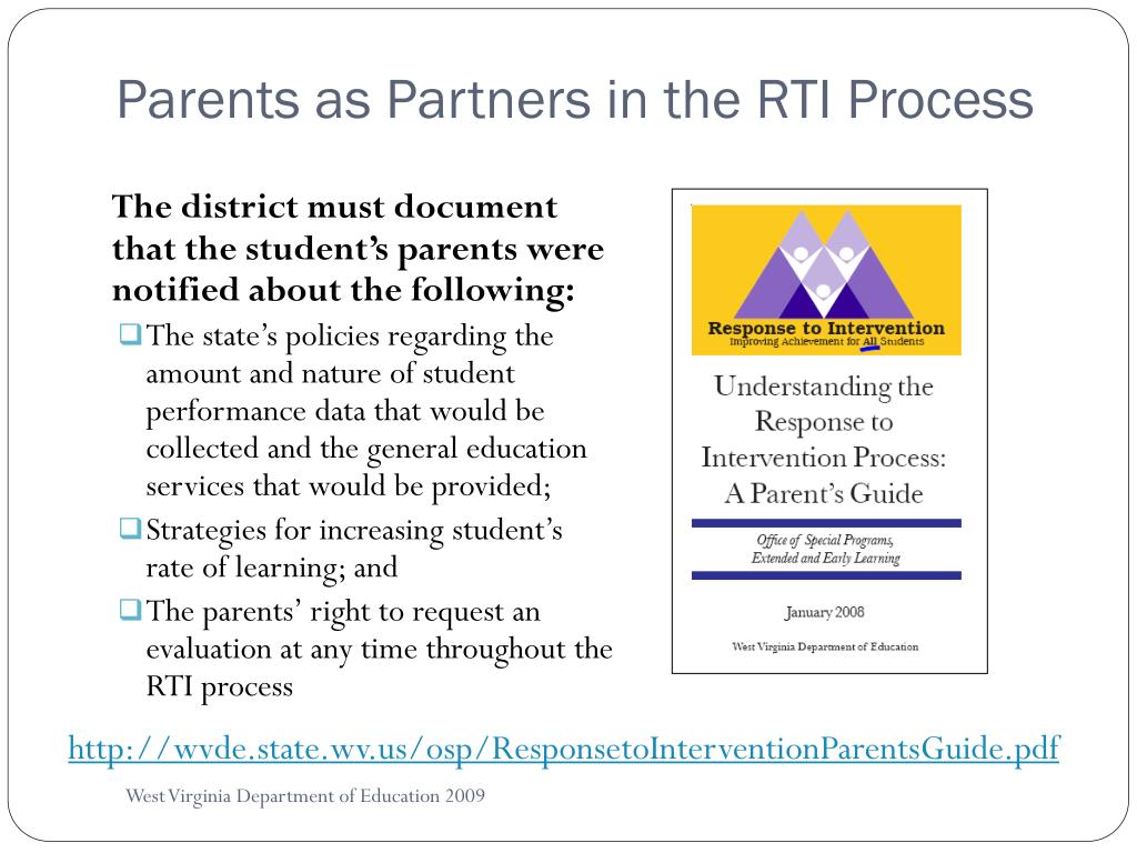 Parents as Partners in the RTI Process