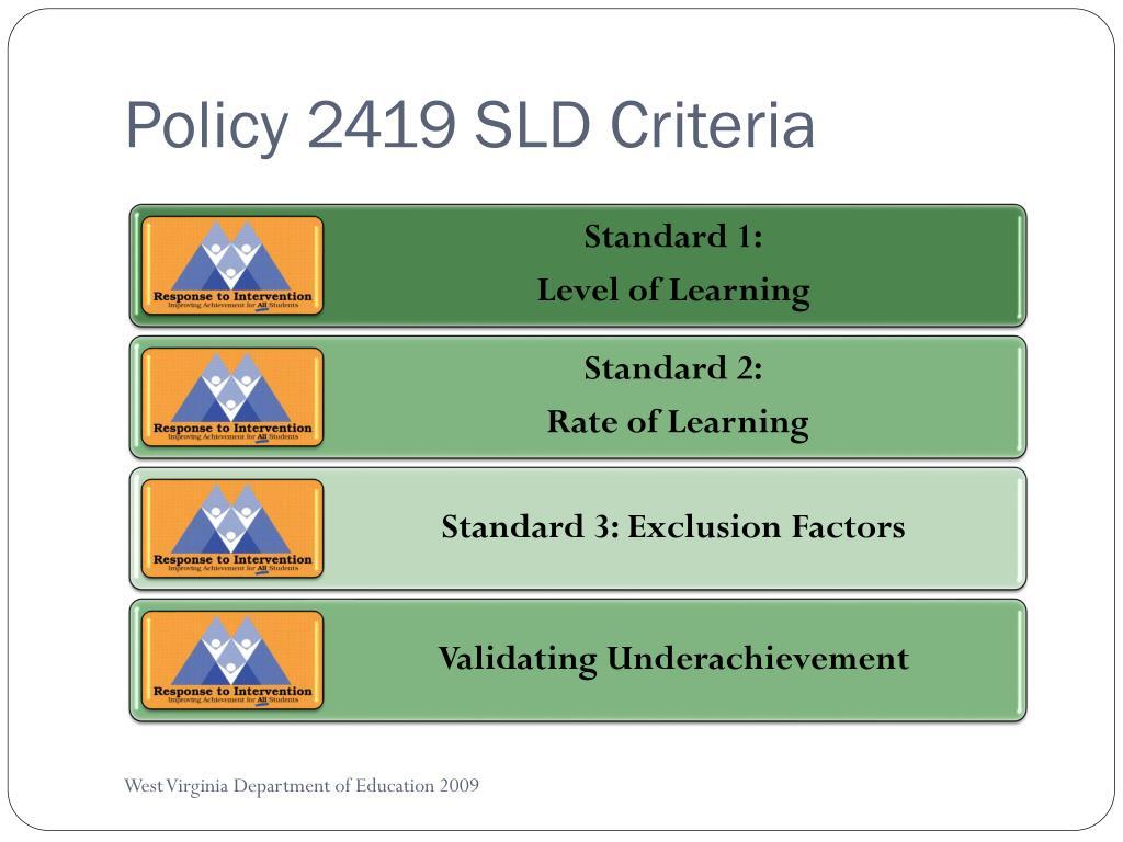 Policy 2419 SLD Criteria