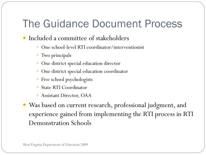 The guidance document process l.jpg