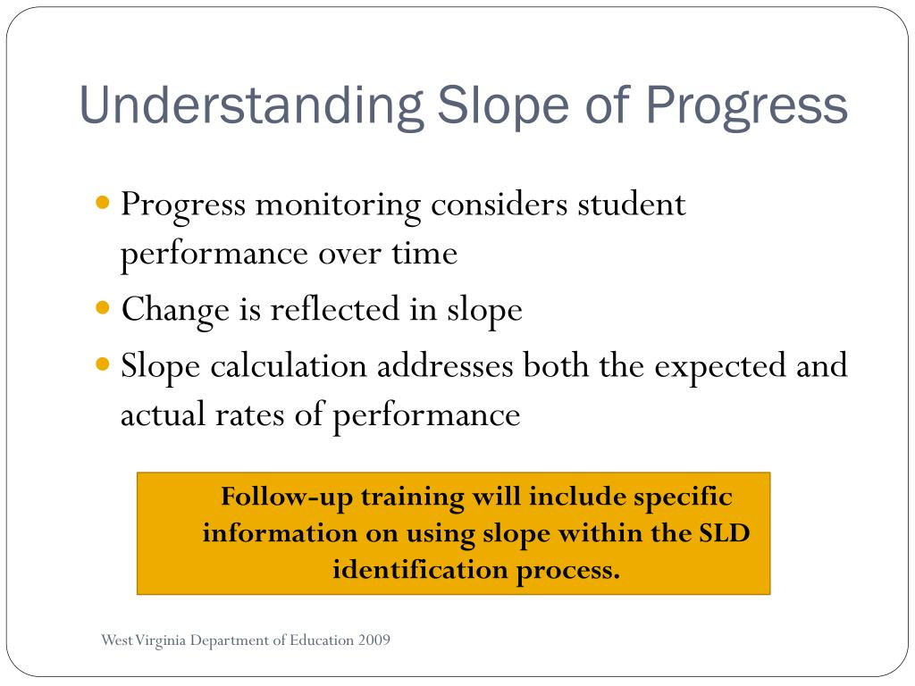 Understanding Slope of Progress