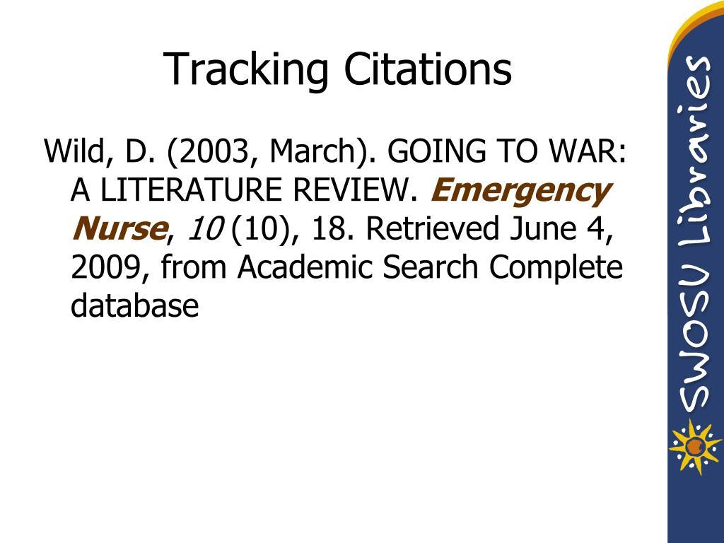 Tracking Citations