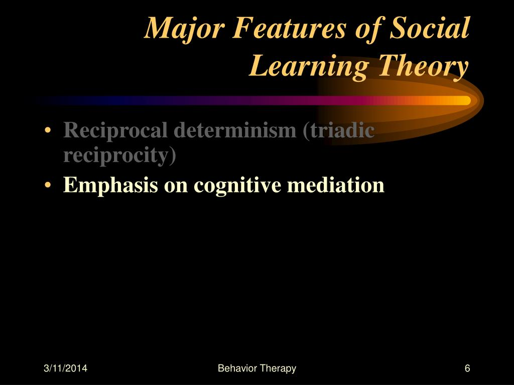 Major Features of Social Learning Theory