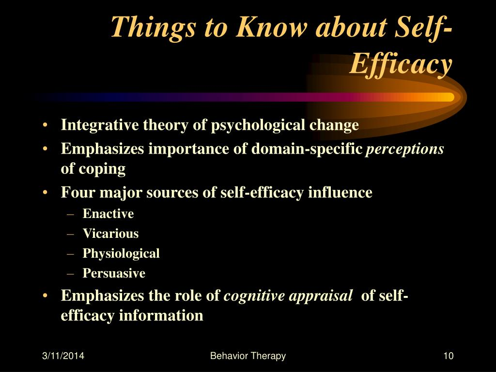 Things to Know about Self-Efficacy