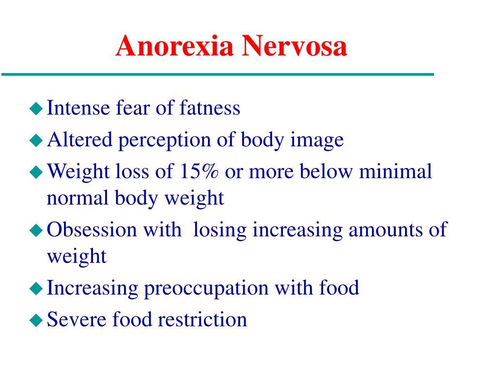 Intense fear of fatness