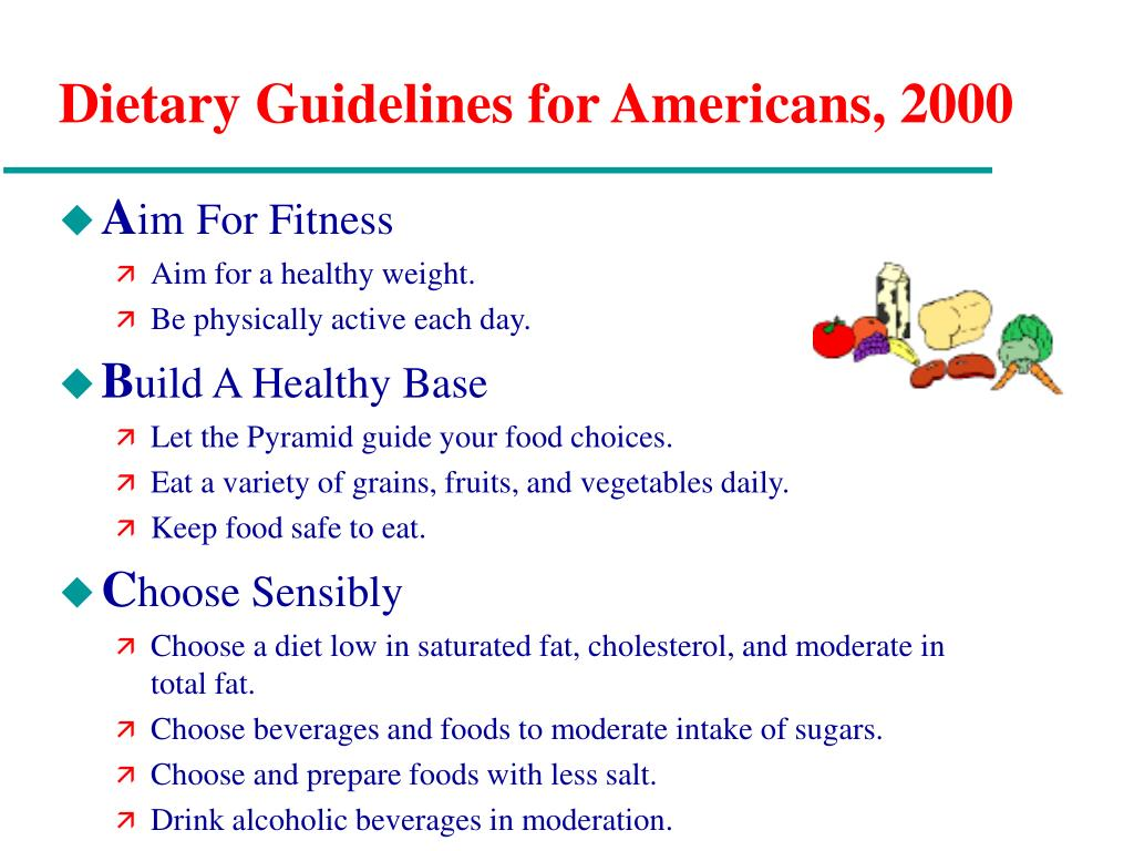 Dietary Guidelines for Americans, 2000