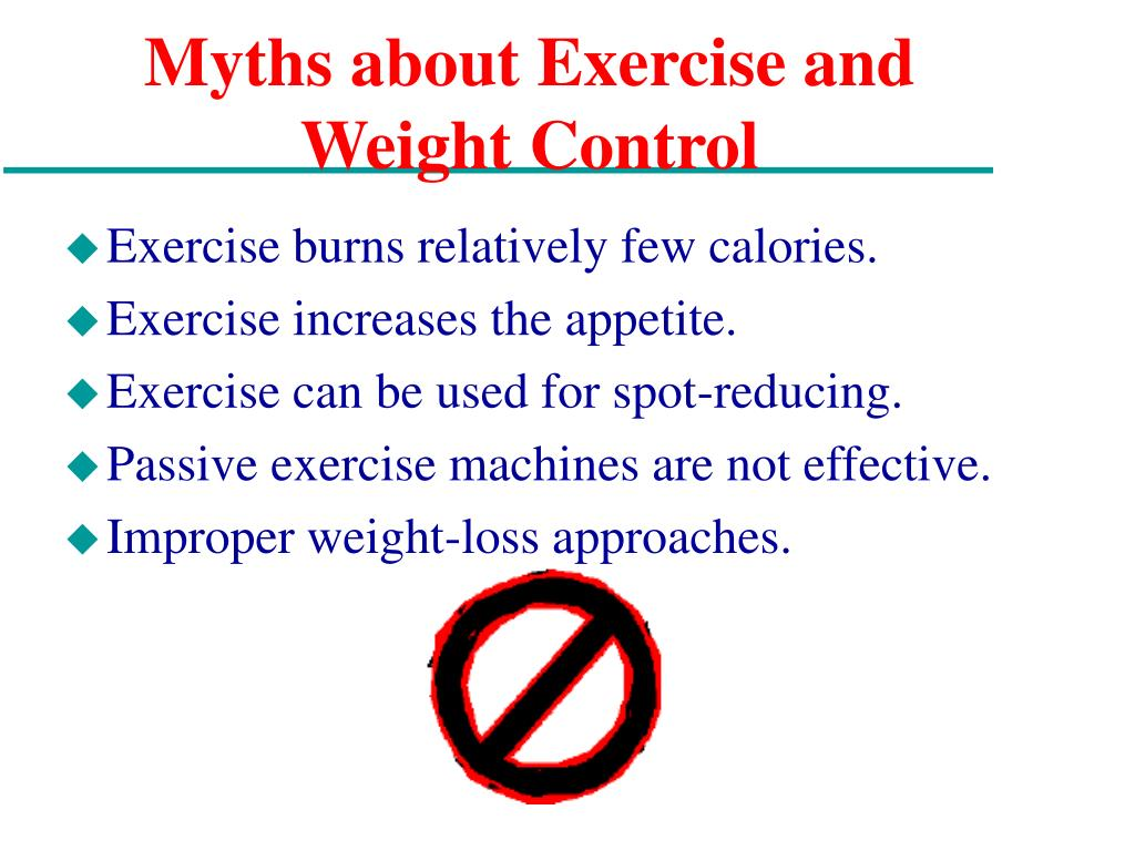 Myths about Exercise and Weight Control