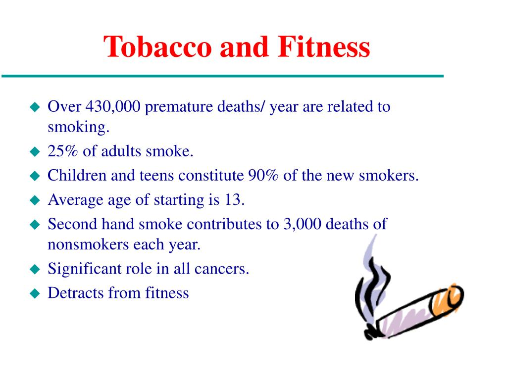 Tobacco and Fitness