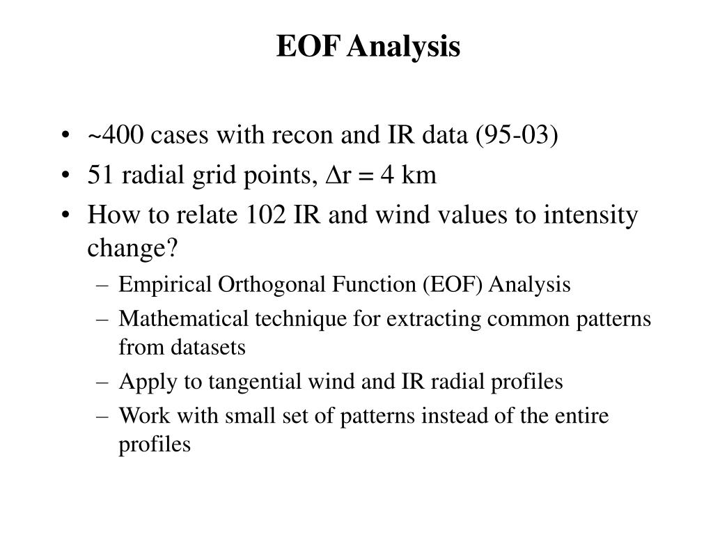 EOF Analysis
