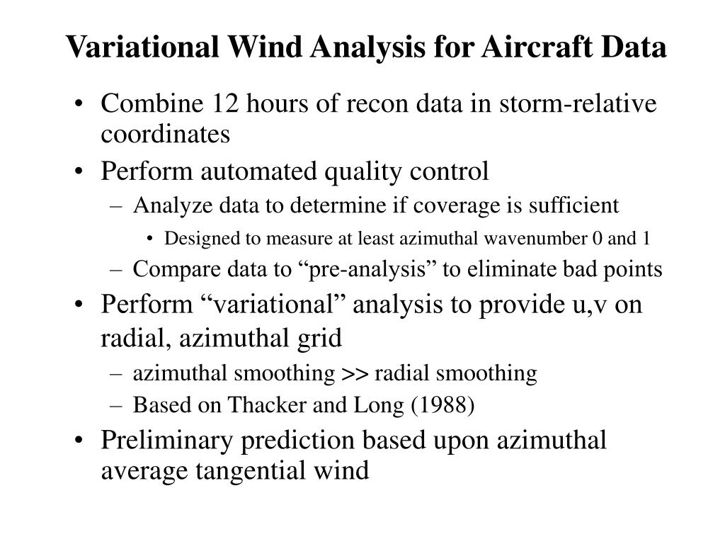 Variational Wind Analysis for Aircraft Data