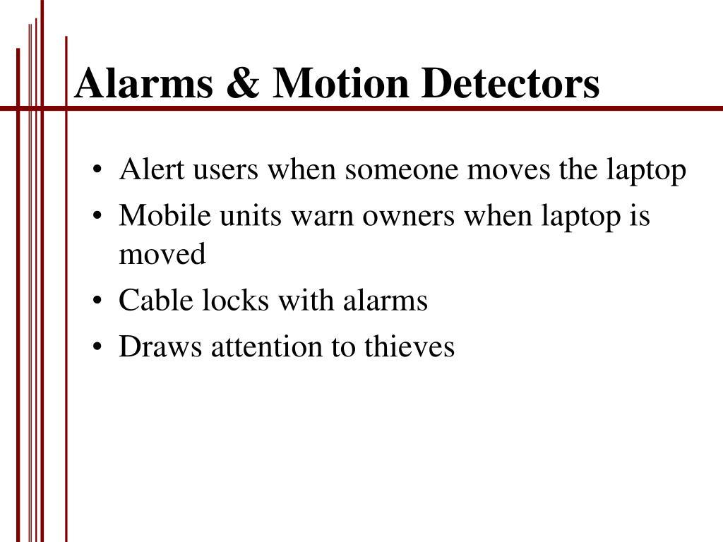 Alarms & Motion Detectors